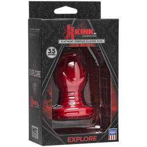 KINK by Doc Johnson: Wet Works EXPLORE Tunnel Butt Plug | Mini Red