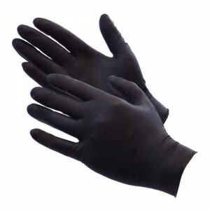 Black Matte Latex Fisting Gloves - Pack of 100 - Size: Medium