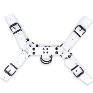 Fetish Gear Solid Colour H Front Harness - White | Small