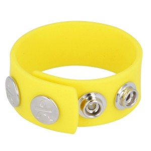 Silicone Series - Silicone Wide Cock and Ball Strap | Yellow