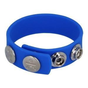 Silicone Series - Titus Silicone Cock and Ball Strap | Blue