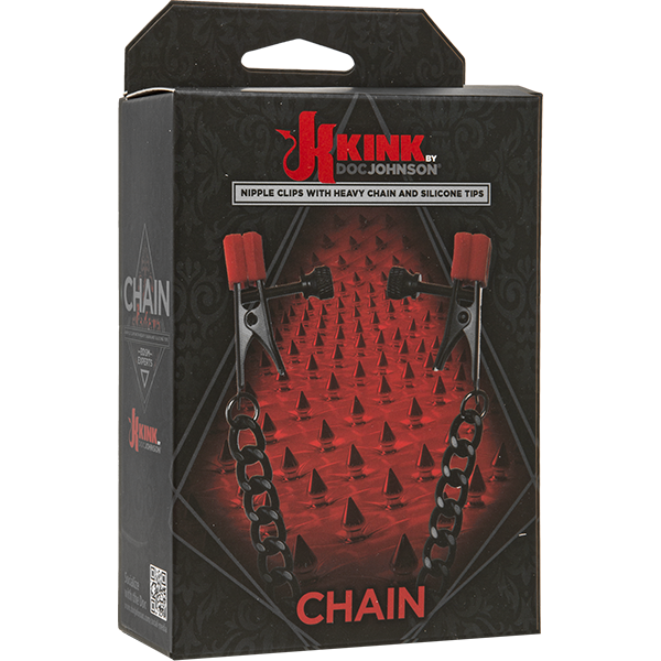 KINK by Doc Johnson: CHAIN Alligator Clamps with Heavy Chain