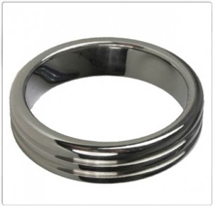 Titus Stainless Steel Ring | RIBBED