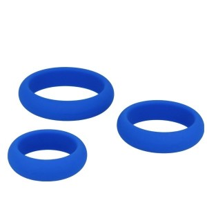 Silicone Series - Titus 3 Pack Silicone Cock Ring Set | Blue