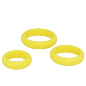 Silicone Series - Titus 3 Pack Silicone Cock Ring Set | Yellow