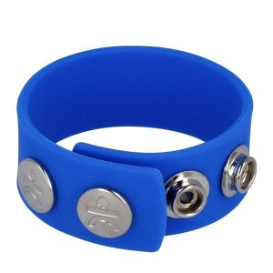 Silicone Series - Silicone Wide Cock and Ball Strap | Blue