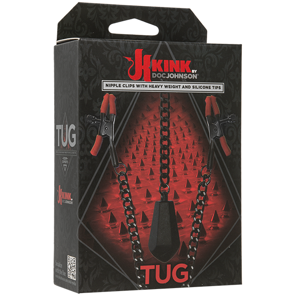 KINK by Doc Johnson: TUG Nipple Clips w/ Chain and Heavy Weight
