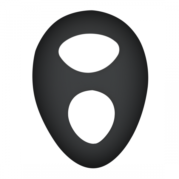 Silicone Series - Titus Silicone Teardrop Cocksling | Black